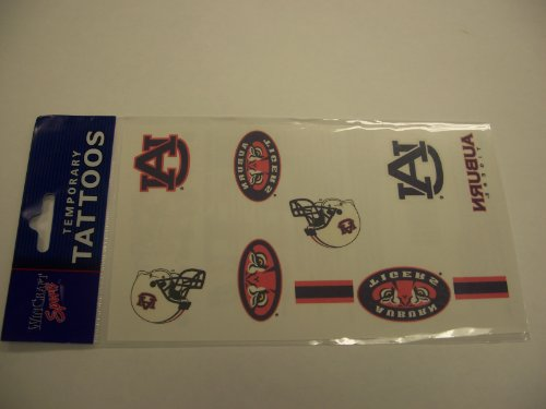 Auburn University temporary tattoos sheet (10 individual tattoos) at Amazon.com