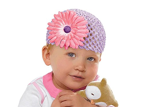 cap flower knit baby 1st estr