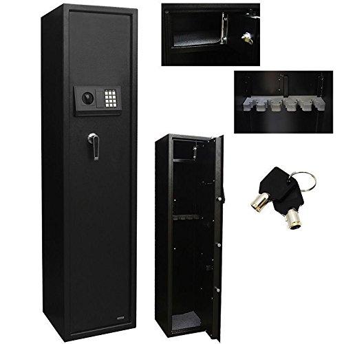 5 Rifle Eletronic Lock Steel Lockbox Firearm Cabinet Safe Gun Lockbox Storage HD