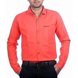 Aaduki Men's Casual Orange Shirt-42