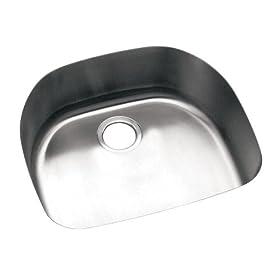 Elkay ELU211810 Harmony Lustertone Undermount Sink, Stainless Steel