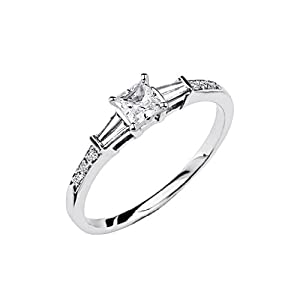 14k white gold solitaire 2 5 ct center