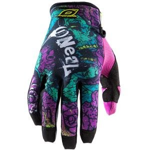 2012 O'NEAL JUMP GLOVES (LARGE) (ZOMBIE BLACK/PURPLE)