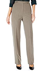 Flat Front Seam Slim Leg Trousers