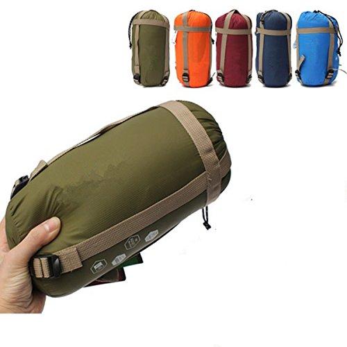 CAMTOA® ultraleicht, klein, warm Schlafsack Hüttenschlafsack, Outdoor Wasserdicht Camping Sleeping Bag Sommerschlafsack Hellblau
