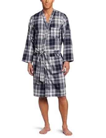 Dockers Men's Twill Robe, Blue, Small/Medium