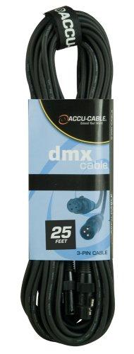 Accu Cable Ac3Pdmx25 Twenty Five Foot 3 Pin True Dmx Cable