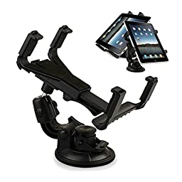 Tsmine Universal Tablet Windshield Dashboard Car Mount Holder (Black) for Samsung Galaxy Tab 3 7.0 T210 and All Tablets Between 7 to 10.1 Inch
