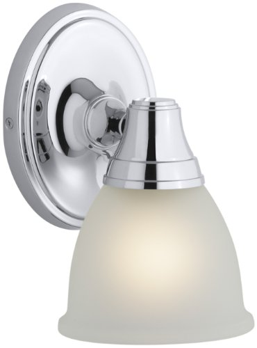 KOHLER K-11365-CP Transitional Single Wall Sconce for Forte Faucet Line, Polished Chrome