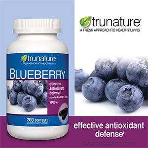 TruNature Blueberry Standardized Extract 1000 mg - 200 Softgels