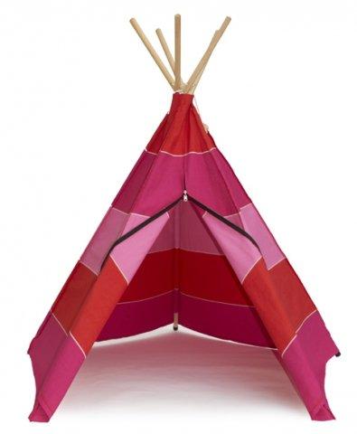Tipi, Indianerzelt Baumwolle, Spielzelt, Spielhaus f. Kinder (pink) jetzt kaufen