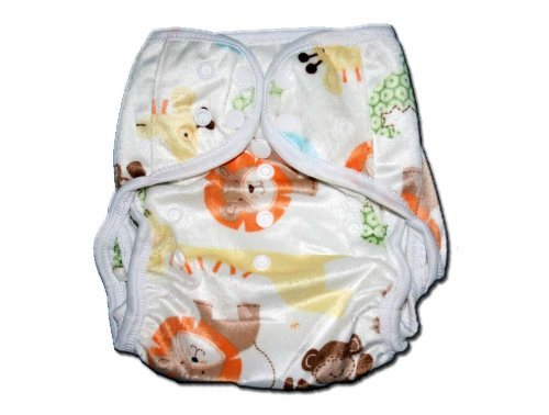 One Size Fit All- Diaper Covers for Prefolds or Regular Inserts PUL MINKY - ZOO