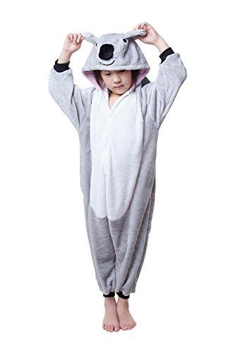 Kids Onesie Jumpsuit Pajama Children's Halloween Costume (105, Gray koala) (Koala Kids compare prices)
