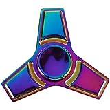 Rrimin Hand Spinner Colorful Tri Fidget Hand Aluminium Alloy Finger Toy EDC Focus Fidget Spinner (136213)