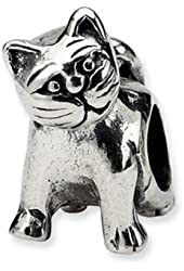 Reflections Sterling Silver Cat Pandora Compatible Bead / Charm