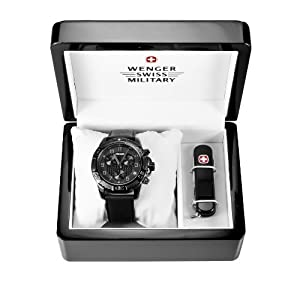 Wenger 66182 Set - Wenger 79264 Mens Special Edition Zurich Carbon Fiber Dial... by Wenger