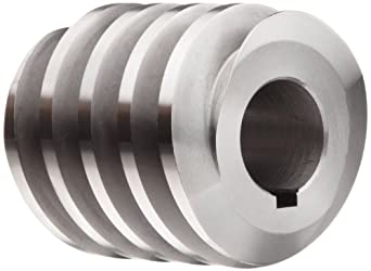 "Boston Gear D1438KRH Worm Gear, 14.5 Degree Pressure Angle, 1.000"" Bore, 6 Pitch, 2. PD, RH"