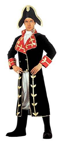 [NAPOLEON COSTUME (L) (long coat jabot pants boot covers hat) by Sancto] (Napoleon Hat Costume)