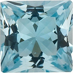 AfricaGems - Princess Shape Aquamarine Natural