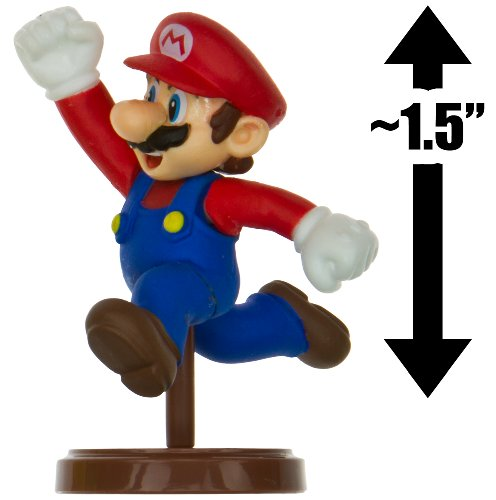 "Mario ~1.5"" Mini Figure [New Super Mario Bros. Wii Choco Egg Series #1 - NO CANDY] (Japanese Import) [01] - 1"