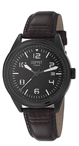 Esprit  Chester - Reloj de cuarzo para hombre, con correa de cuero, color marrón