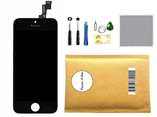 Black LCD Touch Screen Digitizer Glass Replacement Full Assembly for iPhone 5C (Iphone 5c Replacement Digitizer compare prices)
