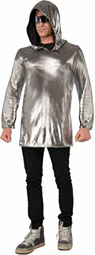 Womens Sexy Silver Futuristic Space Astronaut Alien Hoodie Costume Accessory (Futuristic Space Costume compare prices)