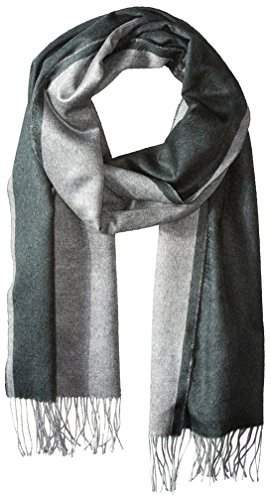 Salvatore-Ferragamo-Mens-Doubler-Solid-Unfinished-Hem-Scarf-Verde-ForestGrigio