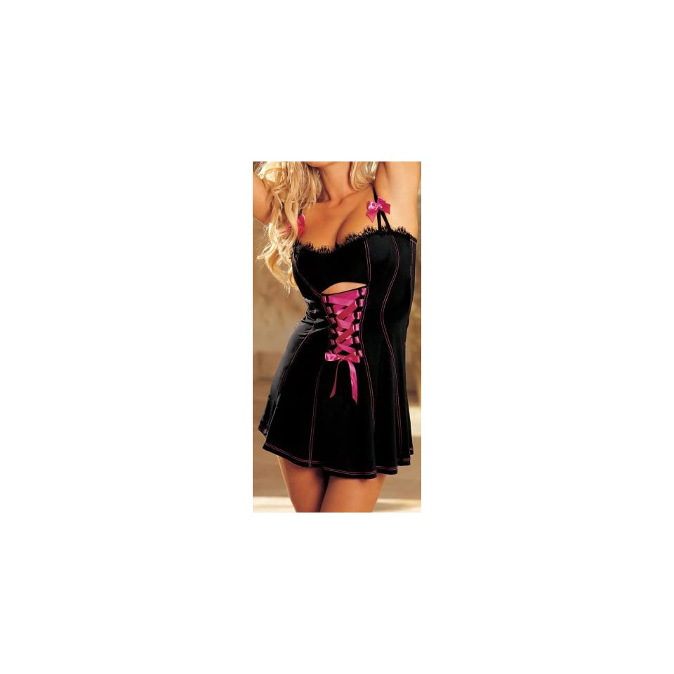 Shirley of Hollywood Womens Stretch Knit And Lace Chemise