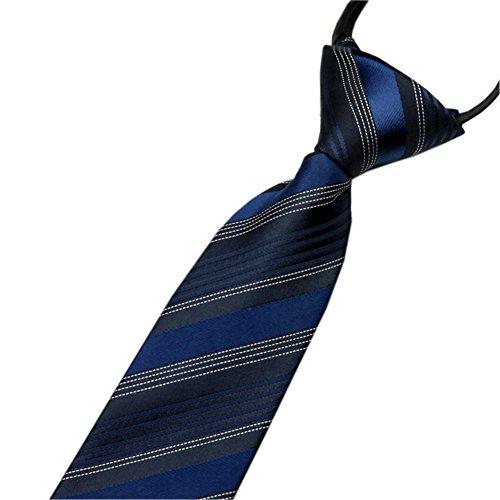 Men's Necktie Zipper Tie Polyester Silk Business Wedding Formal Mens Zipper Tie