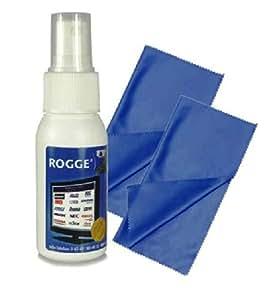 ROGGE DUO Clean LCD/TFT+Plasma Reinigungsset 125ml+Prof. Microfasertuch