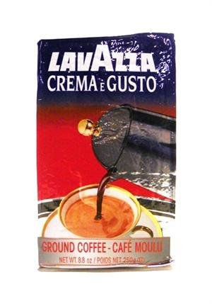 Lavazza Crema e Gusto Ground Coffee, Italian Espresso, 8.8-Ounce Brick