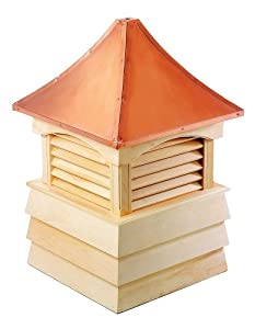 "51"" Handcrafted ""Sherwood"" Copper Roof Wooden Cupola"