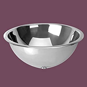 Stainless Vessel Sink : Amazon.com - Bathroom Stainless Steel Vessel Sink High Polish Double ...