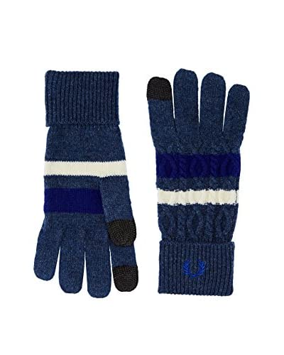 Fred Perry Guantes Fp Cable Tipped Touchscreen Glvs Azul
