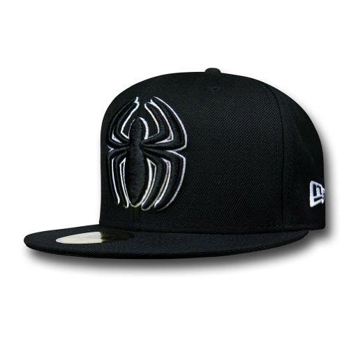 Spiderman Symbol Black 59Fifty Cap- 7 3/8