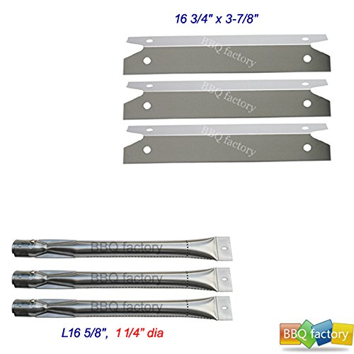 bbq factory Replacement Brinkmann 4040, 810-4040 Gas Grill Grill Stainless Steel Burners & Heat Plates