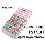 au IS13SHケース・カバー AQUOS PHONE テキスト デザイン is13sh-505