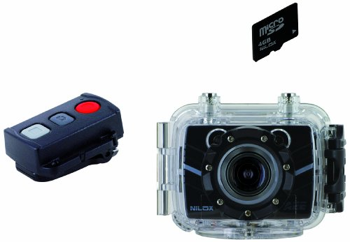 Nilox Foolish Special Action Cam, 1080p, Display 1.5 Pollici TFT, Nero
