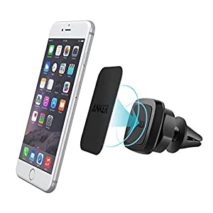 Car Phone Mount, Anker Air Vent Magnetic Universal Phone Holder for iPhone 6s 6 Se Plus, Samsung Galaxy, LG G5, Nexus, Moto, HTC, Sony and Other Smartphones (Black)