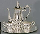 63% Off 4-Piece Romantica Collection Silver Coffee Set