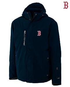 Boston Red Sox Mens WeatherTec Sanders Jacket Navy Blue by Cutter & Buck