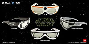 2015 Star Wars The Force Awakens Stormtrooper CineMark Limited Edition 3D Glasses Week #1 Mint in Bag PRE-ORDER
