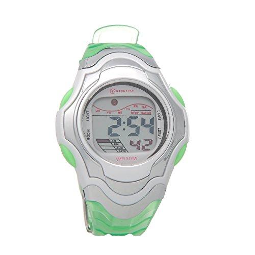 Mingrui Unisex Sport Runner'S Fit Child Digital Wrist Watch Waterproof Outdoor Green