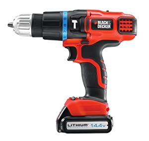 Black & Decker 14.4V Lithium Ion 2 Gear Hammer Drill