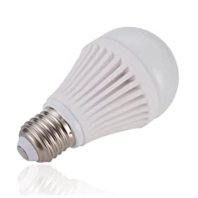  Lighting EVER 7 Watt A19 LED Light Bulbs, 60W Incandescent Bulb Replacement, Warm White, Energy Efficient