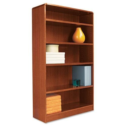 Five-Shelve Radius Corner Bookcase Finish: Cherry