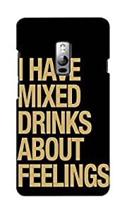 KnapCase Mixed Drinks Designer 3D Printed Case Cover For OnePlus Two