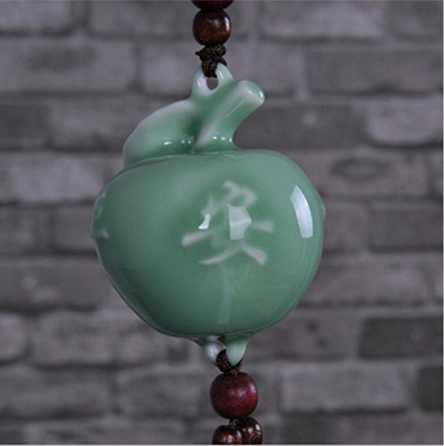 Sg-024 Ceramic Crafts Fashion Perfume Beads Celadon Bon Voyage Car Accessories (Color Random)
