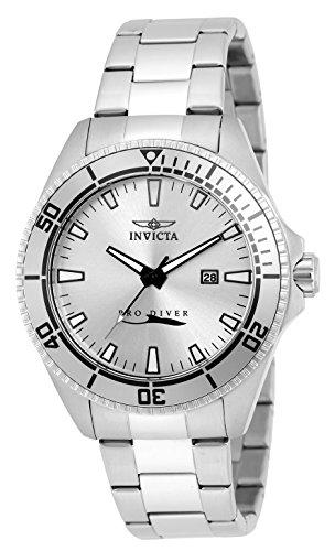 410793e40 INVICTA Pro Diver reloj infantil de cuarzo con para hombre plateado esfera  analógica y plateado correa